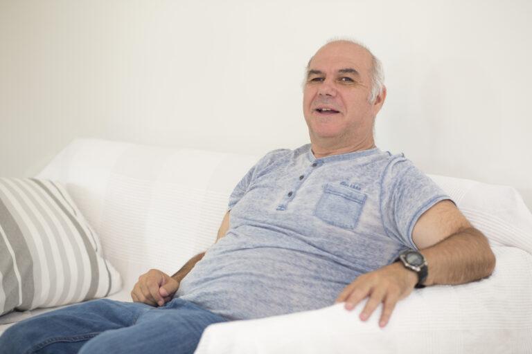 Klient auf Couch
